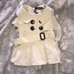 Burberry style dog trench coat